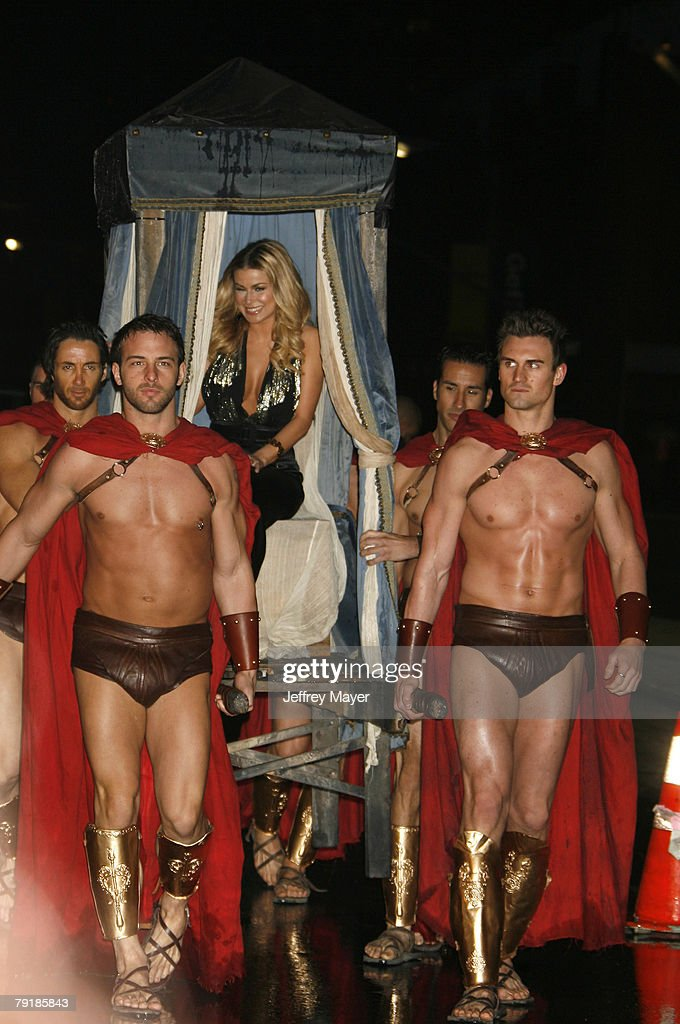 Actress Carmen Electra arrives to the World's First Toga screening of Twentieth Century Fox's 'Meet The Spartans' at the Festival Theater on January 23, 2008 in Westwood, California.