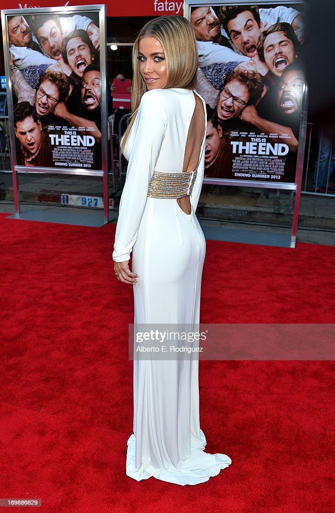Actress <a gi-track='captionPersonalityLinkClicked' href=/galleries/search?phrase=Carmen+Electra&family=editorial&specificpeople=171242 ng-click='$event.stopPropagation()'>Carmen Electra</a> attends Columbia Pictures' 'This Is The End' premiere at Regency Village Theatre on June 3, 2013 in Westwood, California.