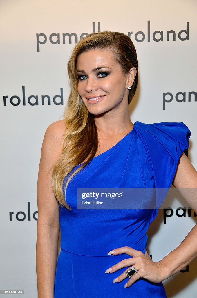 Actress Carmen Electra attends Pamella Roland during Fall 2013 Mercedes-Benz Fashion Week at The Studio at Lincoln Center on February 11, 2013 in New York City.