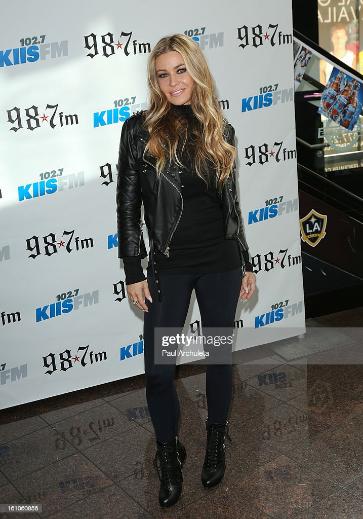 Actress <a gi-track='captionPersonalityLinkClicked' href=/galleries/search?phrase=Carmen+Electra&family=editorial&specificpeople=171242 ng-click='$event.stopPropagation()'>Carmen Electra</a> attends the 102.7 KIIS FM and 98.7 5th annual celebrity artist lounge celebrating the 55th Annual GRAMMYS at ESPN Zone At L.A. Live on February 8, 2013 in Los Angeles, California.