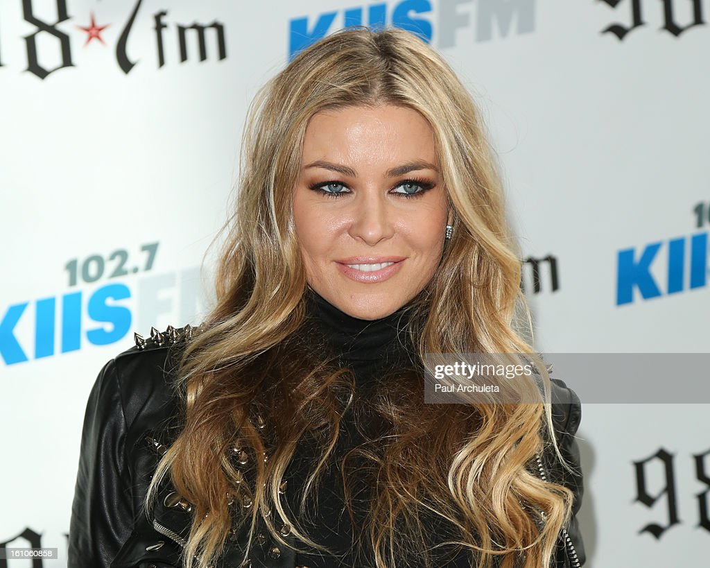 Actress Carmen Electra attends the 102.7 KIIS FM and 98.7 5th annual celebrity artist lounge celebrating the 55th Annual GRAMMYS at ESPN Zone At L.A. Live on February 8, 2013 in Los Angeles, California.