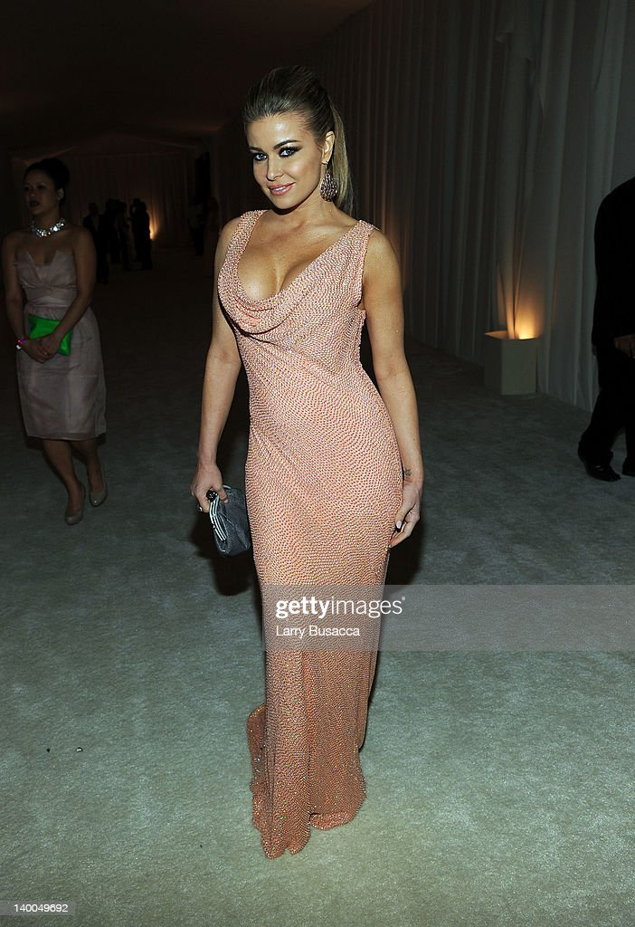 Actress Carmen Electra attends the 20th Annual Elton John AIDS Foundation Academy Awards Viewing Party at The City of West Hollywood Park on February 26, 2012 in Beverly Hills, California.