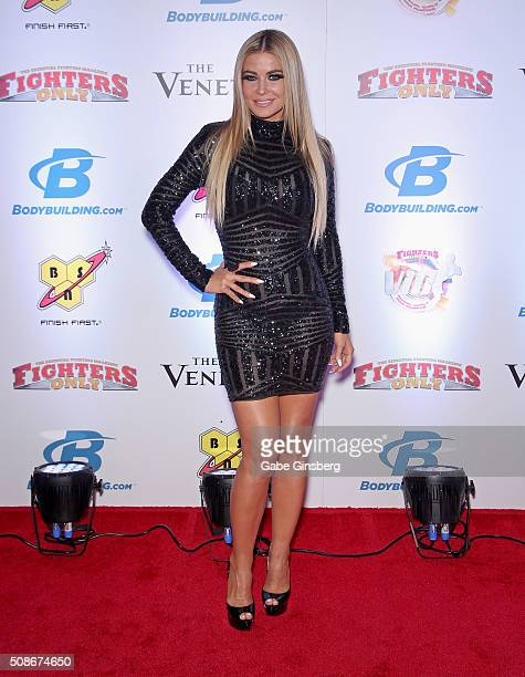 Actress Carmen Electra attends the eighth annual Fighters Only World Mixed Martial Arts Awards at The Palazzo Las Vegas on February 5 2016 in Las...