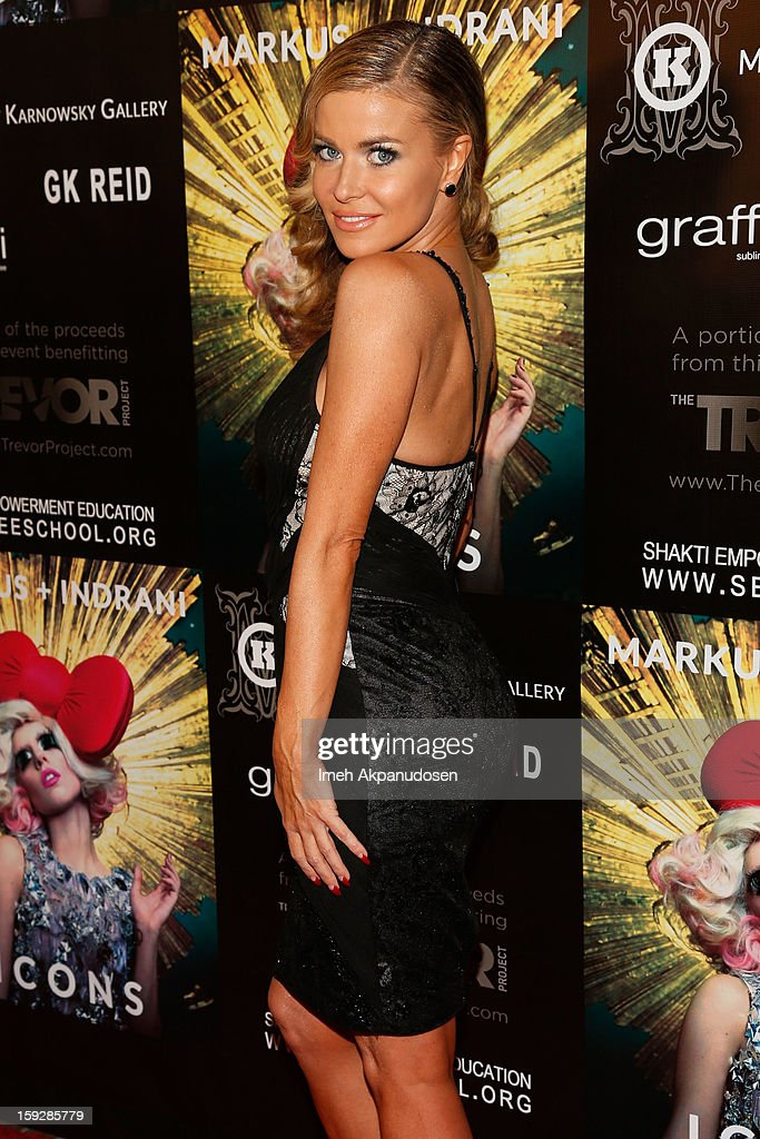 Actress <a gi-track='captionPersonalityLinkClicked' href=/galleries/search?phrase=Carmen+Electra&family=editorial&specificpeople=171242 ng-click='$event.stopPropagation()'>Carmen Electra</a> attends the Markus + Indrani ICONS Book Launch Party at Merry Karnowsky Gallery on January 10, 2013 in Los Angeles, California.