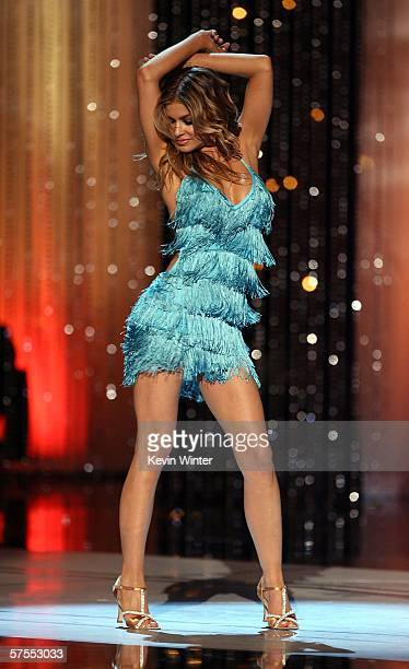 Actress Carmen Electra dances onstage at the 2006 NCLR ALMA Awards at the Shrine Auditorium on May 7 2006 in Los Angeles California