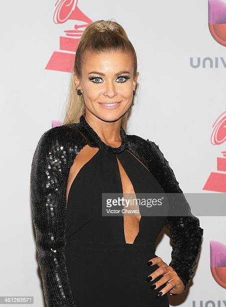 Actress Carmen Electra poses in the press room during The 14th Annual Latin GRAMMY Awards at the Mandalay Bay Events Center on November 21 2013 in...