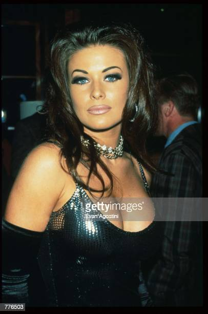 Actress Carmen Electra stands April 19 1996 in New York City Carmen Electra had a party thrown in her honor by Playboy Magazine for appearing in her...