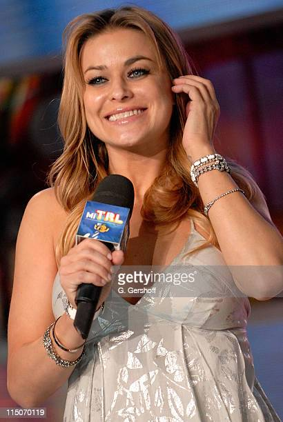 Actress Carmen Electra visits MTV's 'Mi TRL' at MTV Studios Times Square on January 29 2008 in New York City