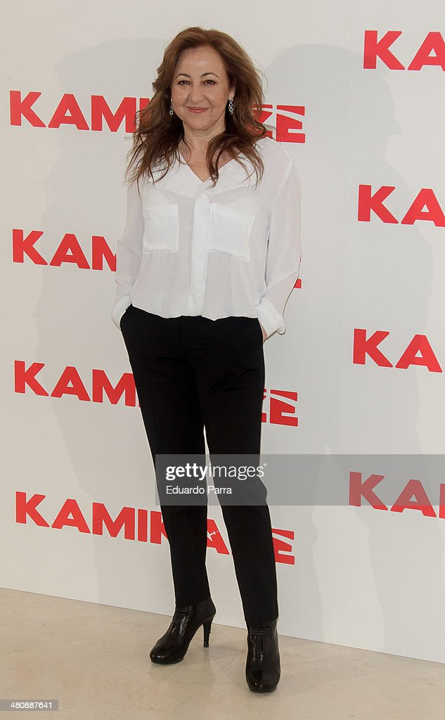 Actress <a gi-track='captionPersonalityLinkClicked' href=/galleries/search?phrase=Carmen+Machi&family=editorial&specificpeople=605775 ng-click='$event.stopPropagation()'>Carmen Machi</a> attends 'Kamikaze' photocall at Hesperia hotel on March 27, 2014 in Madrid, Spain.