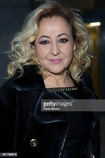 Actress Carmen Machi is seen arriving to the 29th Goya awards nominated party at 'Teatros del Canal' on January 19 2015 in Madrid Spain