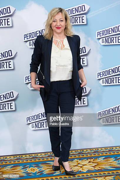 Actress Carmen Machi poses during a photocall to present 'Perdiendo el Norte' at Intercontinental Hotel on March 3 2015 in Madrid Spain