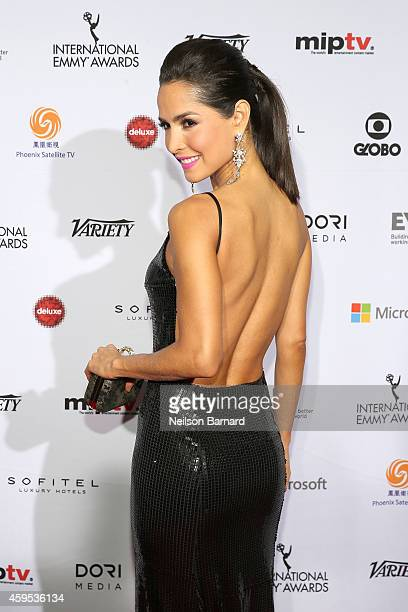 Actress Carmen Villalobos attends the 2014 International Academy Of Television Arts Sciences Emmy Awards at New York Hilton on November 24 2014 in...