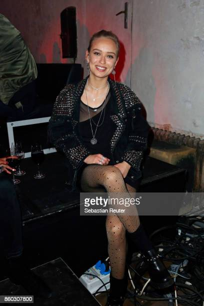 Actress Caro Cult attends Moncler X Stylebopcom launch event at the Musikbrauerei on October 11 2017 in Berlin Germany