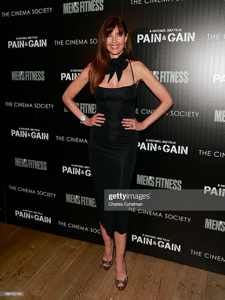 Actress Carol Alt attends The Cinema Society and Men's Fitness screening of 'Pain and Gain' at the Crosby Street Hotel on April 15, 2013 in New York City.