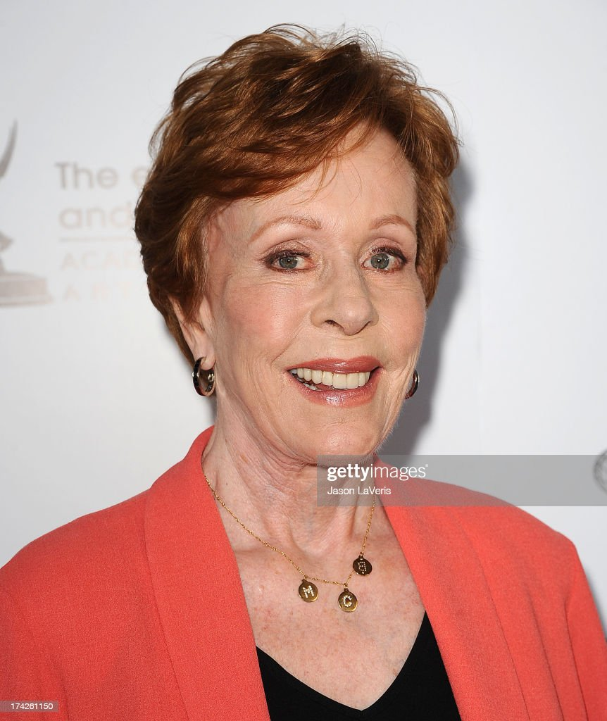 Actress <a gi-track='captionPersonalityLinkClicked' href=/galleries/search?phrase=Carol+Burnett&family=editorial&specificpeople=206201 ng-click='$event.stopPropagation()'>Carol Burnett</a> attends An Evening With <a gi-track='captionPersonalityLinkClicked' href=/galleries/search?phrase=Carol+Burnett&family=editorial&specificpeople=206201 ng-click='$event.stopPropagation()'>Carol Burnett</a> at Leonard H. Goldenson Theatre on July 22, 2013 in North Hollywood, California.