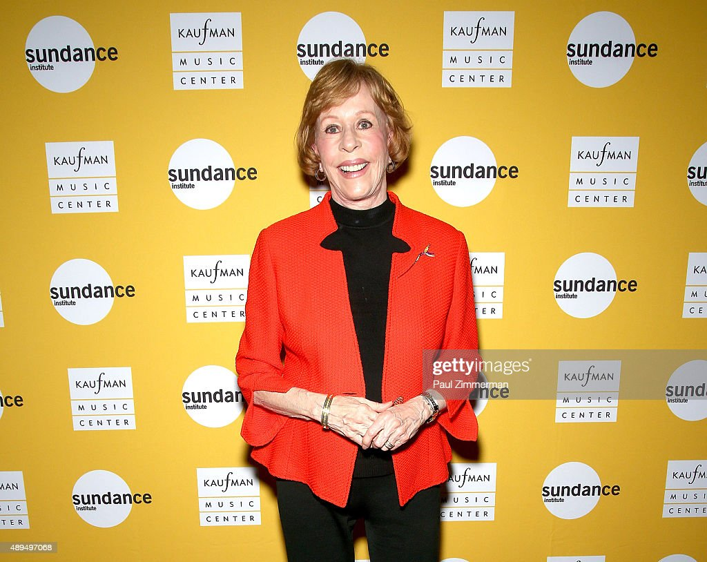 Actress <a gi-track='captionPersonalityLinkClicked' href=/galleries/search?phrase=Carol+Burnett&family=editorial&specificpeople=206201 ng-click='$event.stopPropagation()'>Carol Burnett</a> attends <a gi-track='captionPersonalityLinkClicked' href=/galleries/search?phrase=Carol+Burnett&family=editorial&specificpeople=206201 ng-click='$event.stopPropagation()'>Carol Burnett</a>'s play 'Hollywood Arms' back onstage after 15 years' at Kaufman Music Center's Merkin Concert Hall on September 21, 2015 in New York City.