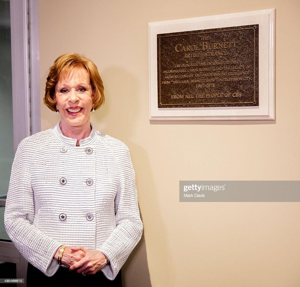 Carol Burnett Dedication Ceremony