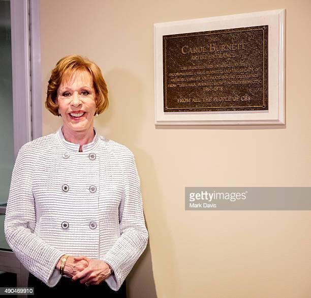 Actress Carol Burnett attends the 'Carol Burnett Artist Entrance dedication ceremony' held at CBS Television City on September 28 2015 in Los Angeles...