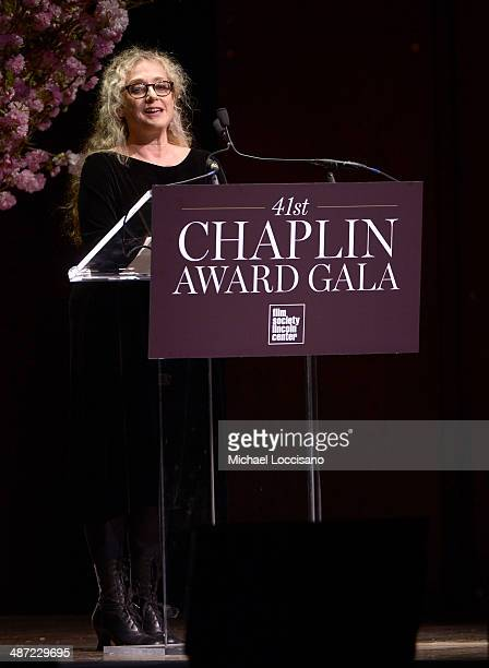 Actress Carol Kane speaks on stage at the 41st Annual Chaplin Award Gala at Avery Fisher Hall at Lincoln Center for the Performing Arts on April 28...