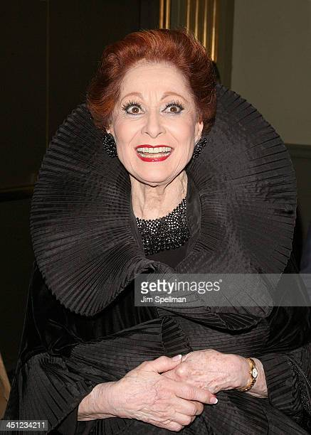 Actress Carol Lawrence attends the West Side Story Broadway revival opening night at The Palace Theatre on March 19 2009 in New York City New York