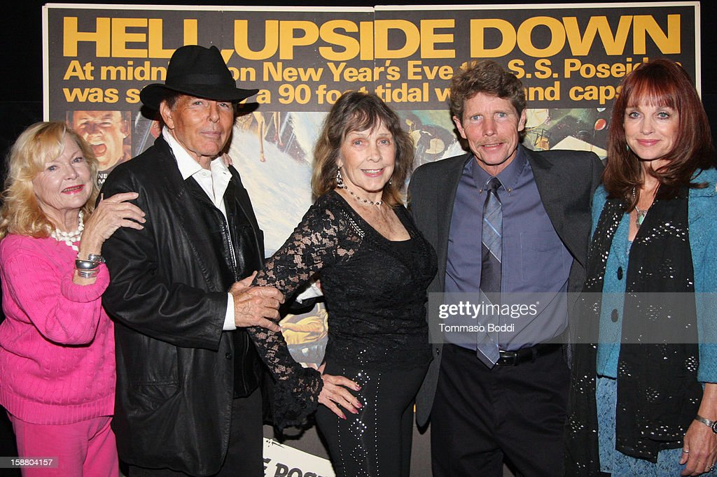 Actress Carol Lynley, Ernie Orsatti, Stella Stevens, Eric Shea and Pamela Sue Martin attend the American Cinematheque's 40th Anniversary Screening of 'The Poseidon Adventure' held at American Cinematheque's Egyptian Theatre on December 29, 2012 in Hollywood, California.