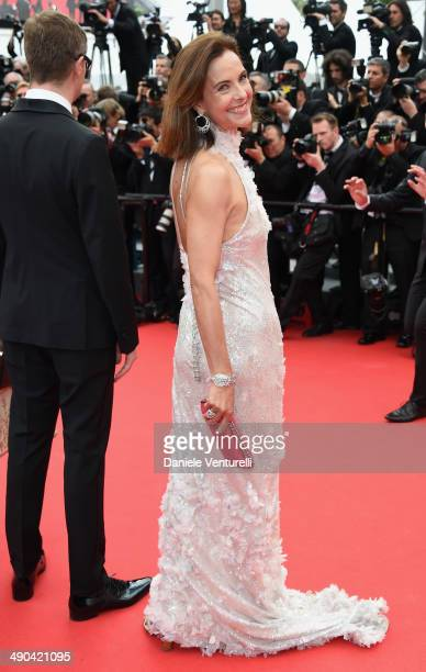 Actress Carole Bouquet attends the Opening Ceremony and the 'Grace of Monaco' premiere during the 67th Annual Cannes Film Festival on May 14 2014 in...