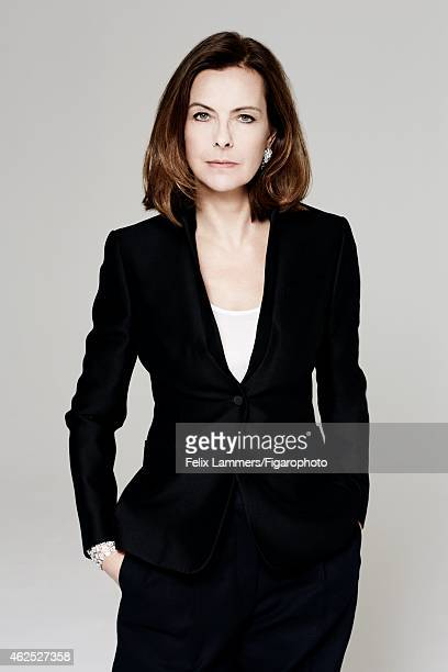 Actress Carole Bouquet is photographed for Madame Figaro on December 22 2014 in Paris France Jacket tank top pants earrings and cuff CREDIT MUST READ...