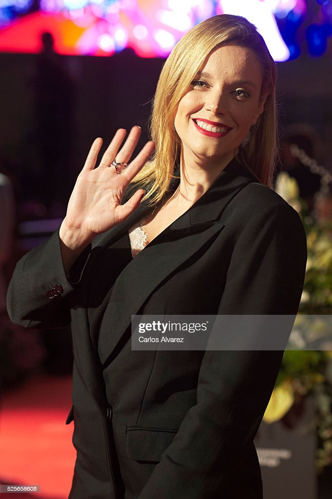 Actress Carolina Bang attends 'La Ultima Piel' premiere at the Cervantes Teather during the 19th Malaga Film Festival on April 28, 2016 in Malaga, Spain.