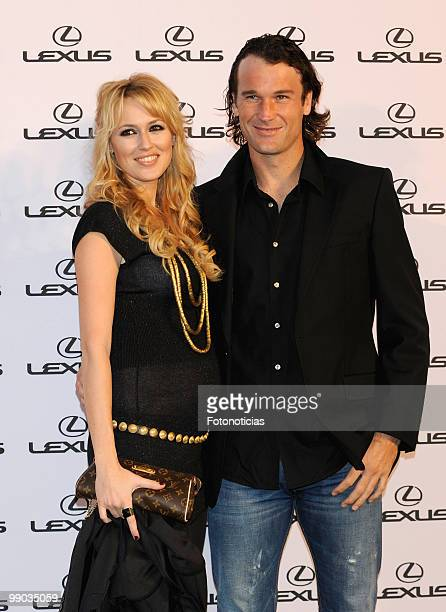 Actress Carolina Cerezuela and tennis player Carlos Moya attend a 'Lexus' party hosted by Bar Refaeli at the Villamagna Hotel on May 11 2010 in...