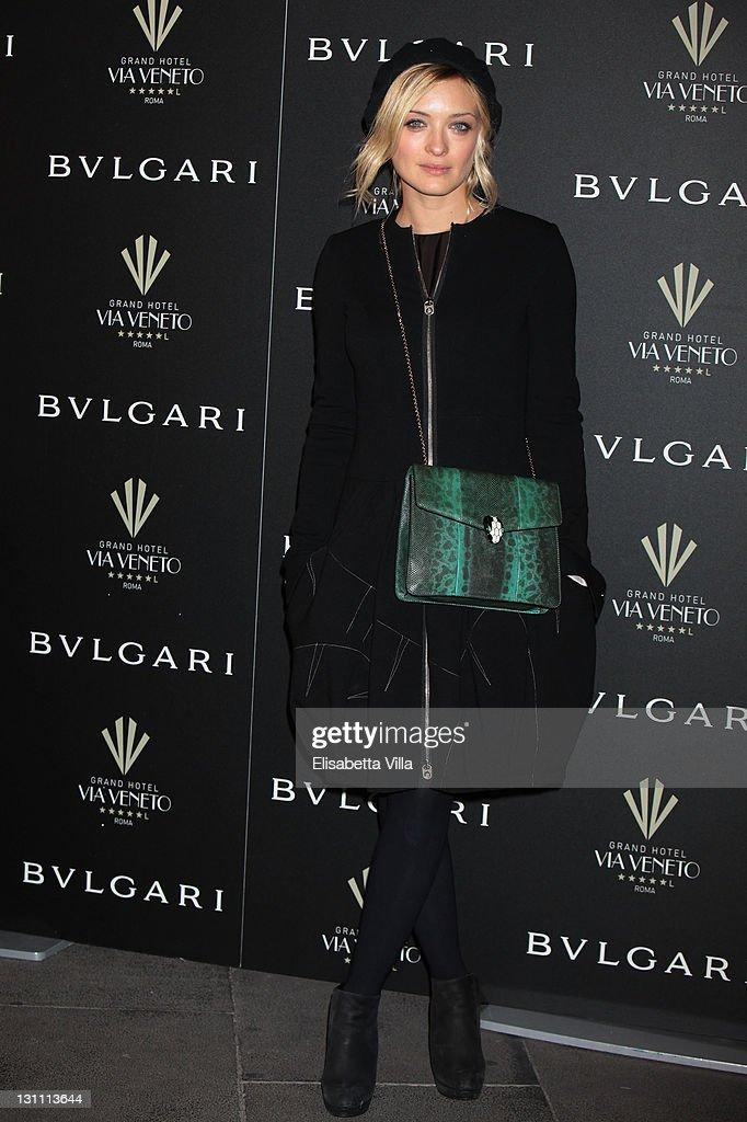 Actress Carolina Crescentini attend a celebration of The International Rome Film Festival hosted by Bulgari and The Grand Hotel Via Veneto on...