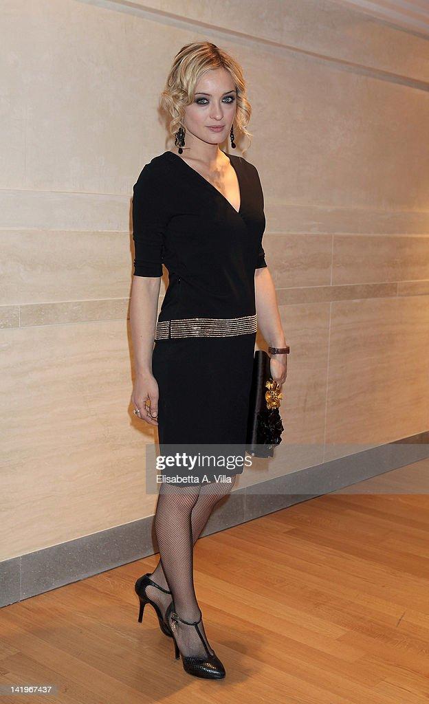 Actress Carolina Crescentini attends a screening of 'Mai Per Amore' at Camera dei Deputati on March 27 2012 in Rome Italy