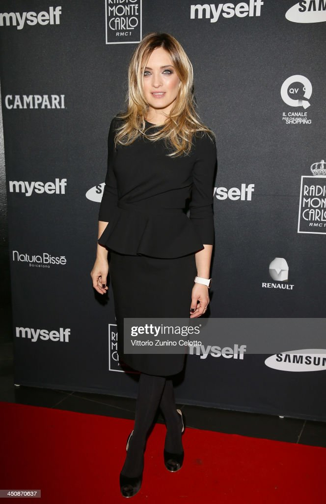 Actress Carolina Crescentini attends Myself magazine party at Limelight on November 20 2013 in Milan Italy