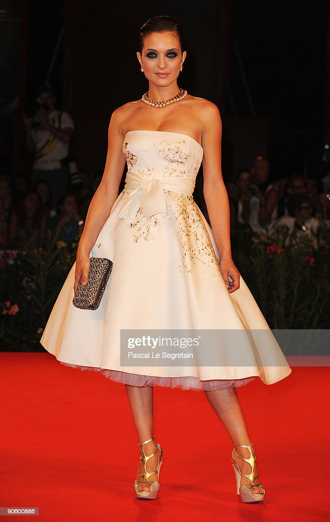 Actress Carolina Crescentini attends the 'A Single Man' premiere at the Sala Grande during the 66th Venice Film Festival on September 11 2009 in...