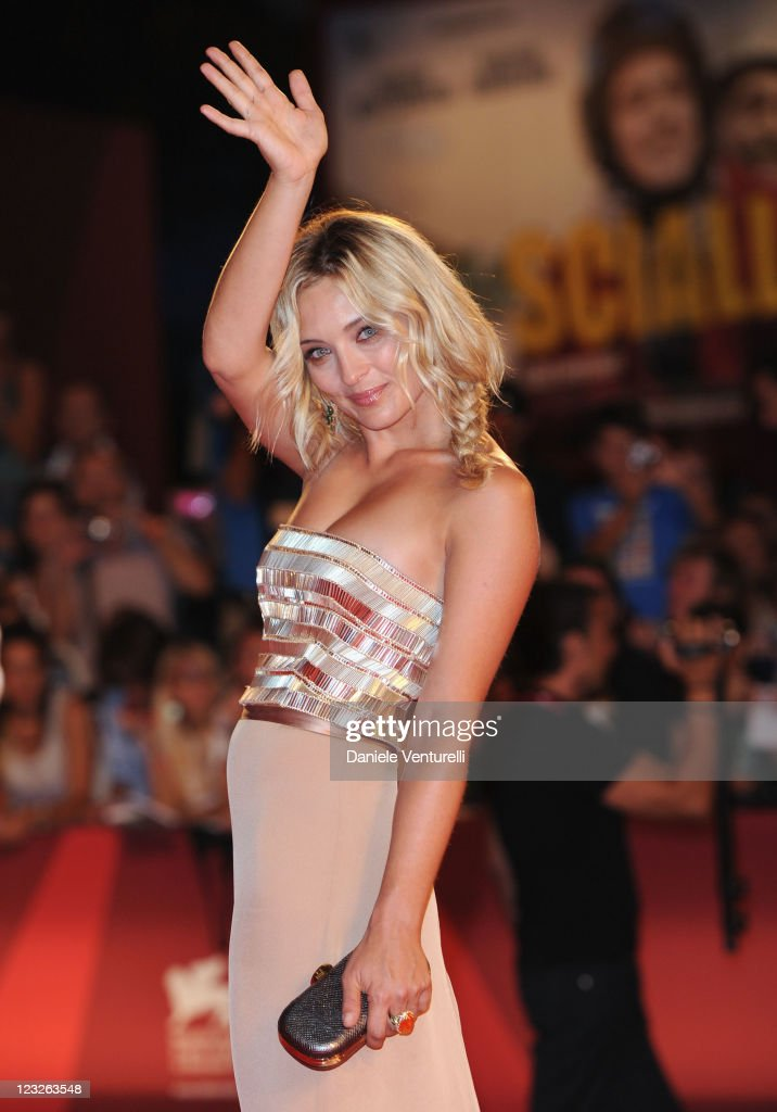 Actress Carolina Crescentini attends the 'Carnage' premiere during the 68th Venice International Film Festival at Palazzo del Cinema on September 1...