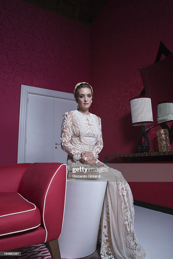 Actress carolina crescentini is photographed for Self Assignment on September 30, 2013 in Venice, Italy.