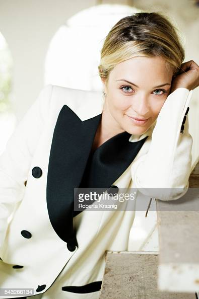 Actress Carolina Crescentini is photographed for Self Assignment on July 18 2011 in Rome Italy