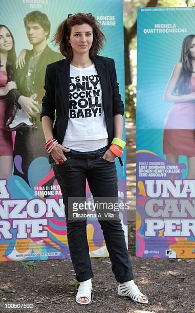 Actress Carolina Di Domenico attends 'Una Canzone Per Te' photocall at Villa Borghese on May 25 2010 in Rome Italy