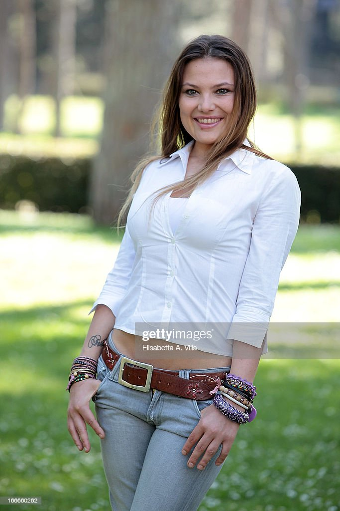 Actress Carolina Fachinetti attends 'Razza Bastarda' photocall at Villa Borghese on April 15, 2013 in Rome, Italy.