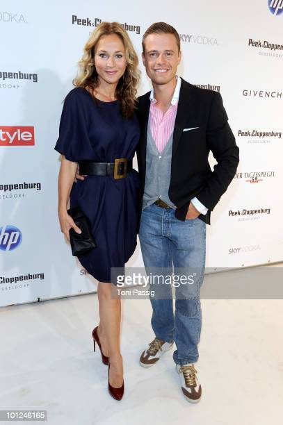 Actress Caroline Beil and actor boyfriend Pete Dwojak attend the 'Sex And The City 2' movie night at the Peek Cloppenburg flagship store on May 28...