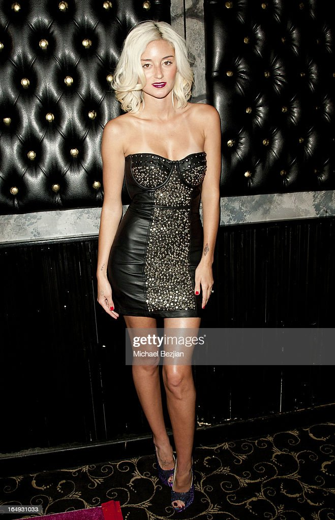 Actress Caroline D'Amore arrives at 'Pieces(Of Ass)' Opening Night Los Angeles Performance at The Fonda Theatre on March 28, 2013 in Los Angeles, California.