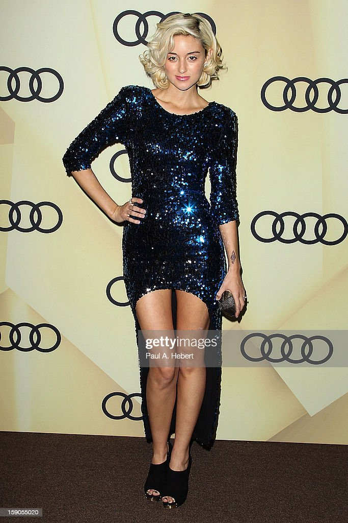 Actress Caroline D'Amore arrives at the Audi Golden Globe 2013 Kick Off Party at Cecconi's Restaurant on January 6, 2013 in Los Angeles, California.
