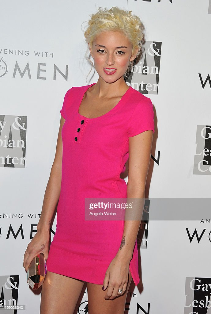 Actress Caroline D'Amore arrives at the L.A. Gay & Lesbian Center's 2013 'An Evening With Women' Gala at The Beverly Hilton Hotel on May 18, 2013 in Beverly Hills, California.