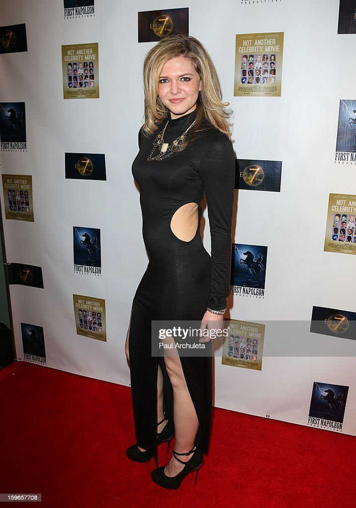 Actress Caroline Heinle attends the premiere for 'Not Another Celebrity Movie' at Pacific Design Center on January 17, 2013 in West Hollywood, California.