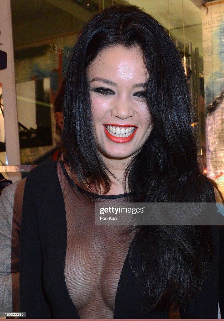 Actress Caroline Le Quang attends the 'Renoma 50th Anniversary' at Renoma Store Rue de La Pompe on October 22, 2013 in Paris, France.