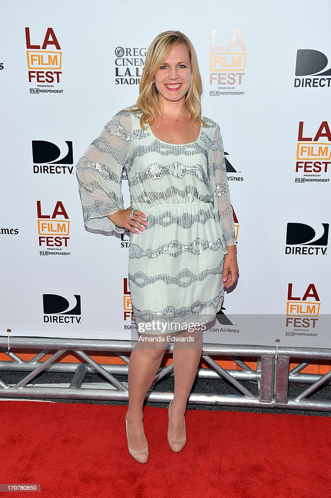Actress Caroline Lesley attends the 'Fruitvale Station' premiere during the 2013 Los Angeles Film Festival at Regal Cinemas L.A. Live on June 17, 2013 in Los Angeles, California.