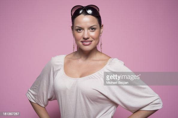 Actress Caroline Morahan poses for a portrait at the Mark Kearney Group 'Iced Out' Luxury Emmy Suite on September 20 2013 in Los Angeles California