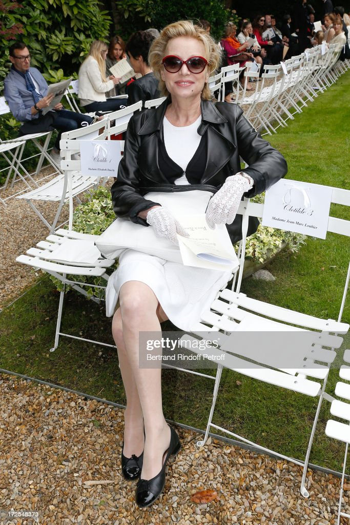 Actress Caroline Silhol attends the Frank Sorbier show as part of Paris Fashion Week Haute-Couture Fall/Winter 2013-2014 at Hotel De Bezenval on July 3, 2013 in Paris, France.