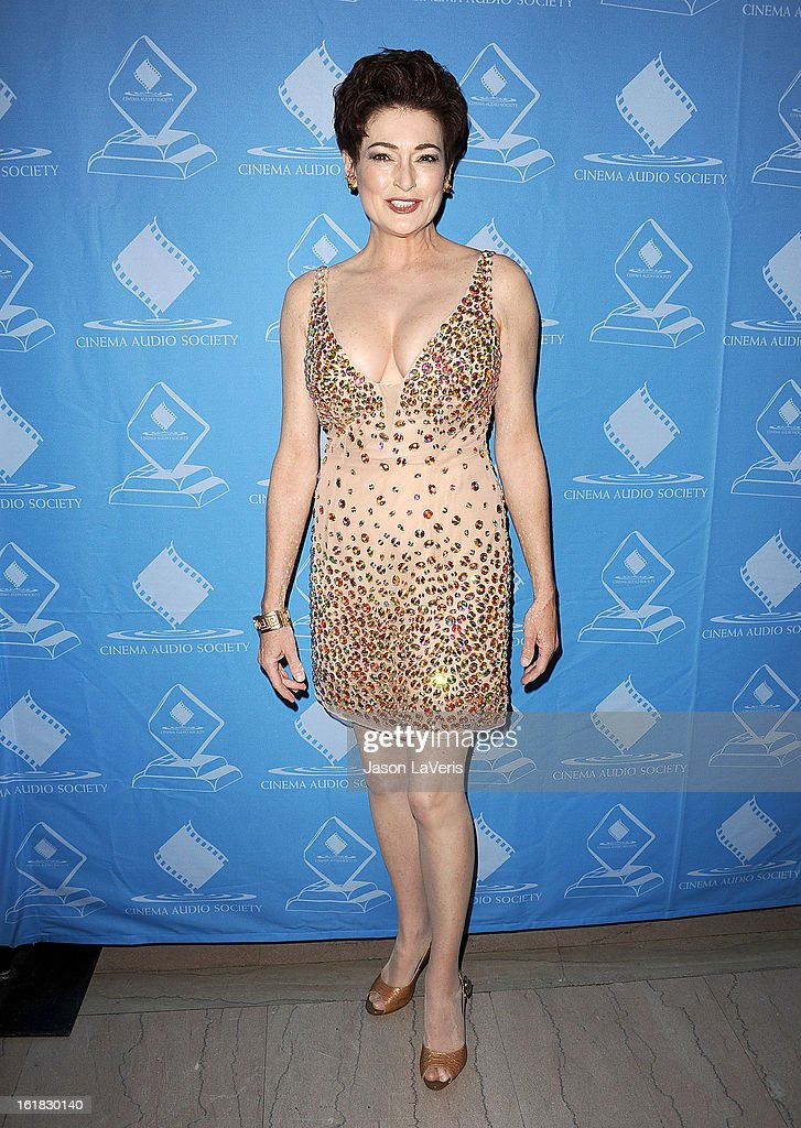 Actress Carolyn Hennesy attends the 49th annual Cinema Audio Society Guild Awards at Millennium Biltmore Hotel on February 16, 2013 in Los Angeles, California.