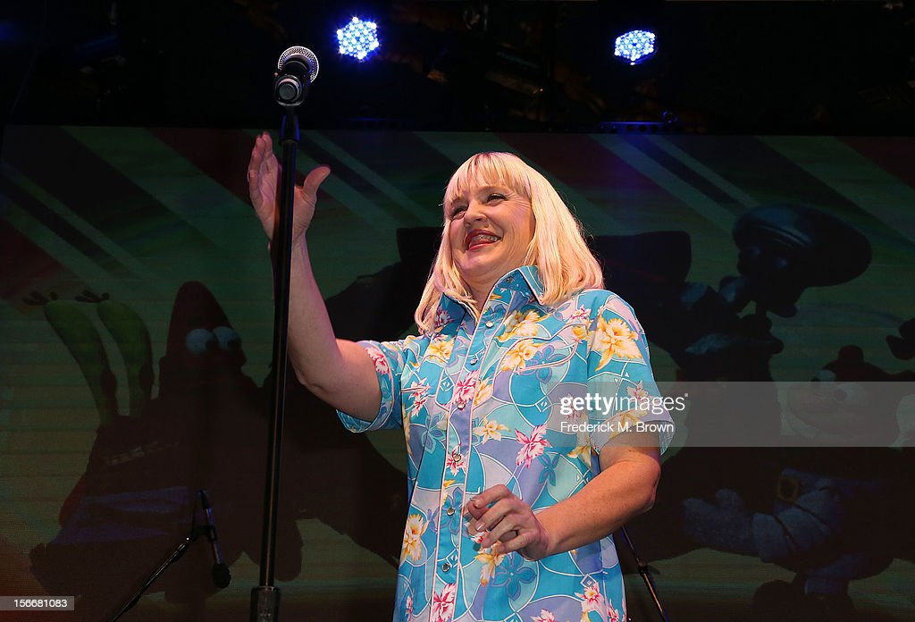 Actress Carolyn Lawrence performs during Nickelodeon's Spongebob Holiday Extravapants At The Grove on November 18, 2012 in Los Angeles, California.