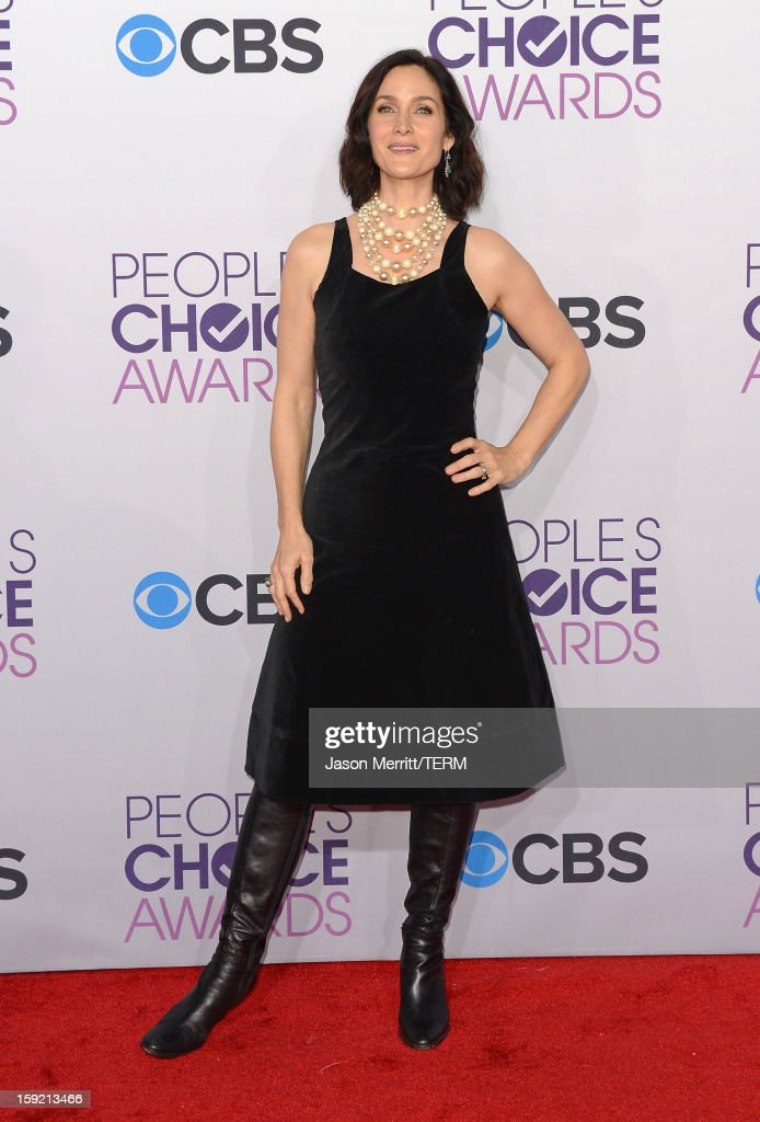 Actress Carrie Anne Moss attends the 39th Annual People's Choice Awards at Nokia Theatre L.A. Live on January 9, 2013 in Los Angeles, California.